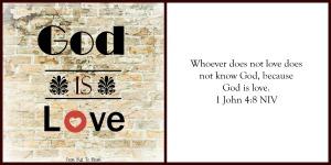 god is love card