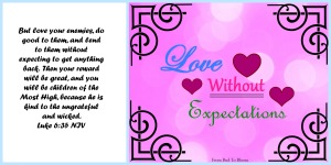 love without expectations