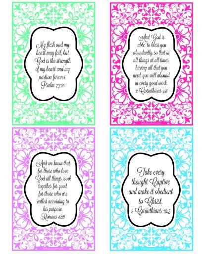 Printable Bible Verse Cards