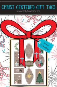 Free Printable Christ centered Christmas gift tags.